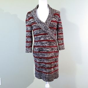 Sweater dress 3/4 length sleeves, women's size L
